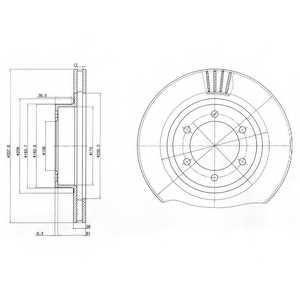 Тормозной диск DELPHI BG4052 - изображение