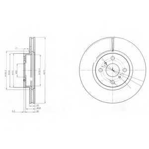 Тормозной диск DELPHI BG4054 - изображение