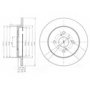 Тормозной диск DELPHI BG4055 - изображение