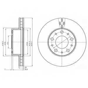 Тормозной диск DELPHI BG4059 - изображение