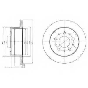 Тормозной диск DELPHI BG4061 - изображение