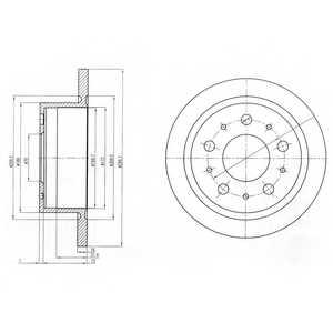 Тормозной диск DELPHI BG4062 - изображение