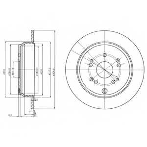 Тормозной диск DELPHI BG4064 - изображение