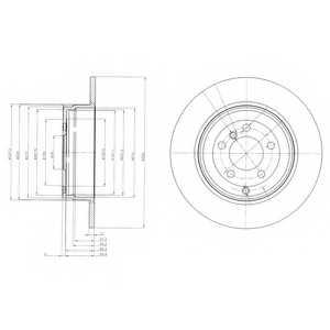 Тормозной диск DELPHI BG4066 - изображение