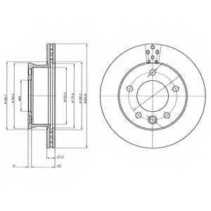 Тормозной диск DELPHI BG4067 - изображение