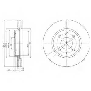 Тормозной диск DELPHI BG4068 - изображение