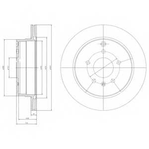 Тормозной диск DELPHI BG4069 - изображение