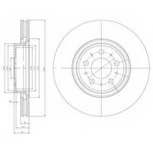 Тормозной диск DELPHI BG4071 - изображение