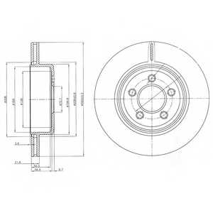 Тормозной диск DELPHI BG4073 - изображение