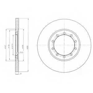 Тормозной диск DELPHI BG4075 - изображение