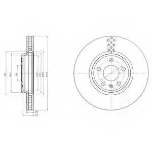 Тормозной диск DELPHI BG4080 - изображение