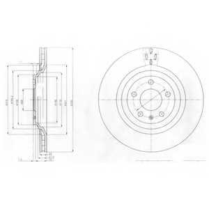 Тормозной диск DELPHI BG4087 - изображение