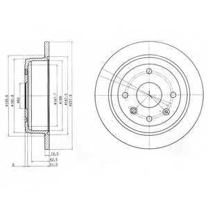 Тормозной диск DELPHI BG4091 - изображение