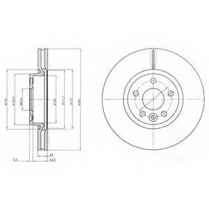 Тормозной диск DELPHI BG4094 - изображение