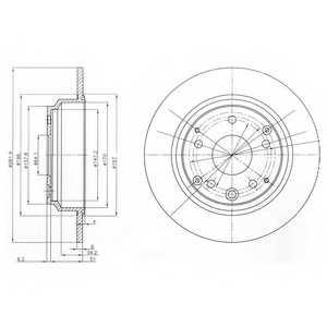 Тормозной диск DELPHI BG4095 - изображение
