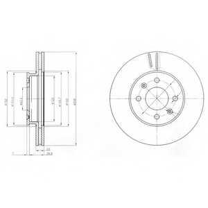 Тормозной диск DELPHI BG4096 - изображение