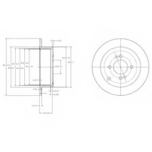 Тормозной диск DELPHI BG4097 - изображение