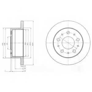 Тормозной диск DELPHI BG4099 - изображение