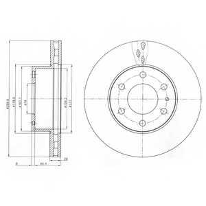 Тормозной диск DELPHI BG4100 - изображение