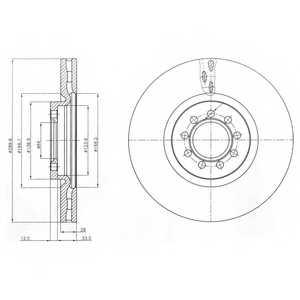 Тормозной диск DELPHI BG4101 - изображение