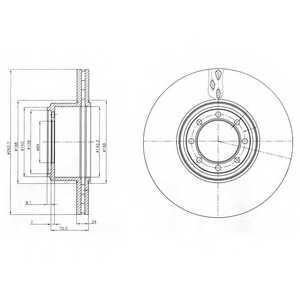 Тормозной диск DELPHI BG4102 - изображение