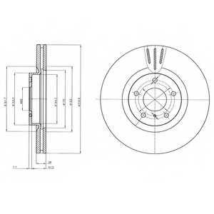 Тормозной диск DELPHI BG4107 - изображение