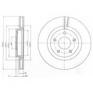 Тормозной диск DELPHI BG4109 - изображение