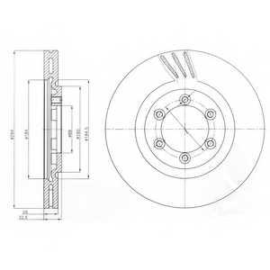 Тормозной диск DELPHI BG4112 - изображение