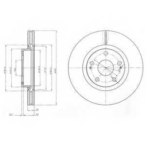 Тормозной диск DELPHI BG4113 - изображение