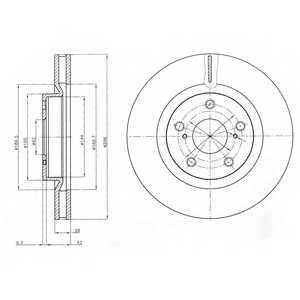 Тормозной диск DELPHI BG4114 - изображение