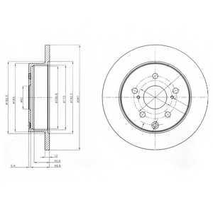 Тормозной диск DELPHI BG4115 - изображение