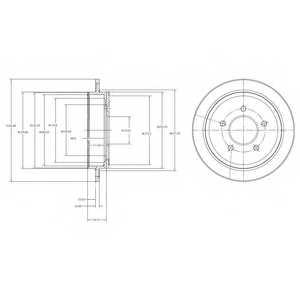 Тормозной диск DELPHI BG4121 - изображение