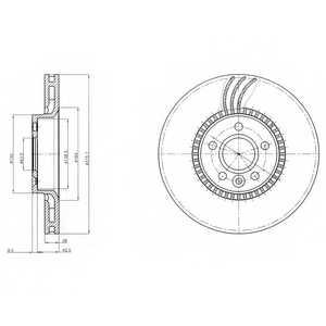 Тормозной диск DELPHI BG4123 - изображение