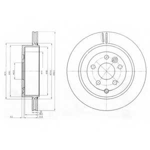 Тормозной диск DELPHI BG4125 - изображение