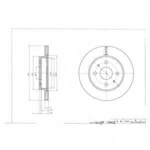 Тормозной диск DELPHI BG4128 - изображение