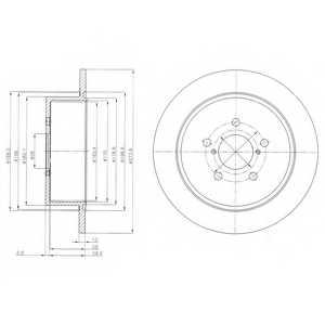 Тормозной диск DELPHI BG4129 - изображение