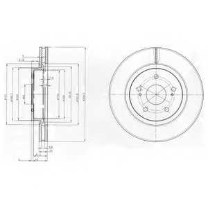 Тормозной диск DELPHI BG4131 - изображение