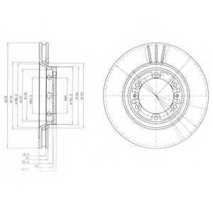 Тормозной диск DELPHI BG4132 - изображение
