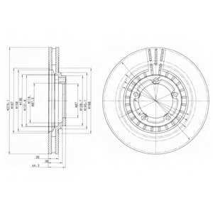 Тормозной диск DELPHI BG4134 - изображение