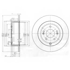 Тормозной диск DELPHI BG4136 - изображение