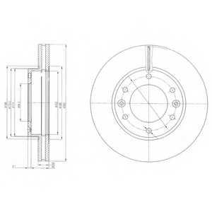 Тормозной диск DELPHI BG4137 - изображение