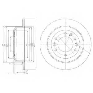 Тормозной диск DELPHI BG4138 - изображение