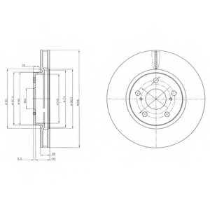 Тормозной диск DELPHI BG4139 - изображение
