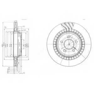 Тормозной диск DELPHI BG4144 - изображение