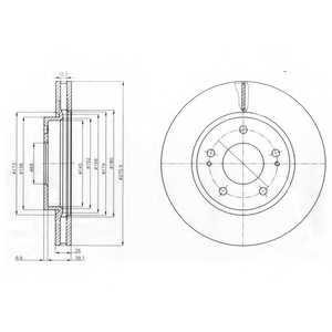 Тормозной диск DELPHI BG4147 - изображение