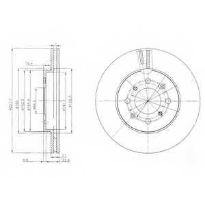 Тормозной диск DELPHI BG4148 - изображение