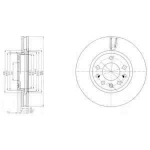Тормозной диск DELPHI BG4149 - изображение