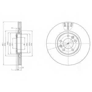 Тормозной диск DELPHI BG4150 - изображение
