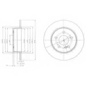 Тормозной диск DELPHI BG4152 - изображение
