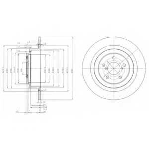 Тормозной диск DELPHI BG4154 - изображение
